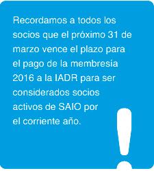 SAIO News Marzo 2016